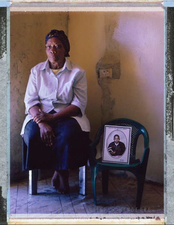 "A posed portrait of Lizzie Venfolo. In July 2012, a man came in to the house of 22 year old Pumeza Nkolonzi's grandmother, where Pumeza lived. He fired four shots, one hit the wall one hit Pumeza in the chest, one in the arm. As Pumeza stumbled backwards in her bedroom she shouted at the man ""what have I done to you?"" and then the fatal shot hit her in the forehead. In the house at the time was her grandmother, Lizzie Venfolo and five year old cousin Nolufefe Venfolo. Pumeza had been receiving threats of violence against her. Family, friends, activists, and the police all say she was killed because she was a lesbian. No one was ever convicted of the crime. The family feel the police have ignored the case because Pumeza was a lesbian. South Africa. November 2014.  While many countries around the world are legally recognizing same-sex relationships, individuals in nearly 80 countries face criminal sanctions for private consensual relations with another adult of the same sex. Violence and discrimination based on sexual orientation or gender expression is even more widespread. Africa is becoming the worst continent for Lesbian, Gay, Bi-sexual, Transgender, Queer, Inter-sex (LGBTQI) individuals. More than two thirds of African countries have laws criminalizing consensual same-sex acts. In some, homosexuality is punishable by death. In Nigeria new homophobic laws introduced in 2013 led to dramatic increase in attacks. Under Sharia Law, homosexuality is punishable by death, up to 50 lashes and six months in prison for woman; for men elsewhere, up to 14 years in prison. Same sex acts are illegal in Uganda. A discriminatory law was passed then struck down and homophobic attacks rose tenfold after the passage of the Anti-Homosexuality Act. In Cameroon it is also illegal. More cases against suspected homosexuals are brought here than any other African country. In stark contrast with the rest of the continent, same sex relationships are legal in South Africa. The country has the most liberal laws toward gays and lesbians on the continent, with a constitution guaranteeing LBGTQI rights. Because of this, LGBTQI Africans from all over the continent fleeing persecution have come to South Africa. Despite these laws, many lesbians have been victims of 'corrective rape' and homosexuals have been murdered for their sexuality. Homophobia is by no means just an African problem. In Russia, politicians spread intolerance. In June 2013 the country passed a law making ""propaganda"" about ""non-traditional sexual relationships"" a crime. Attacks against gays rose. Videos of gay men being tortured have been posted online. In predominantly Muslim Malaysia, law currently provides for whipping and up to a 20-year prison sentence for homosexual acts involving either men or women. Increased extreme Islamification in the Middle East is making life more dangerous for gay men there, as evidenced by ISIS's recent murders of homosexual men. While homophobic discrimination is widespread in Lebanon, life is much safer there than Iran, Iraq, and Syria from which refugees are fleeing due to homophobic persecution. Photo Robin Hammond/Panos for Witness Change"