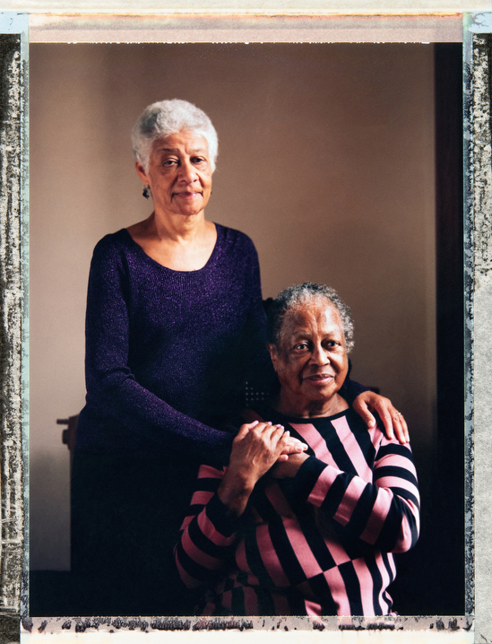 Married gay African-American women 68 year-old Sonja Jackson (left) and 83 year-old Evelyn Jenkins Whitaker at home in  Brooklyn, New York. Assistant: Alison Lippy, Allison@allisonlippy.com, Phone +1 410 967 1096. Photography and video by Robin Hammond, pitures@robinhammond.co.uk. Editor: Mallory Benedict, Mallory.Benedict@natgeo.com, +1 202.791.1282. 05 February 2019