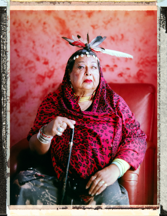 73 year-old, transgender queer women, and veteran of the 1969 Stonewall Riots, Victoria Cruz. She sits in the lounge area of Brooklyn based GRIOT Circle, (@GRIOTcircle on Instagram) a community-based, multigenerational organization serving LGBTQ elders of color. Behind the scenes photography and video and assistant: Alison Lippy, Allison@allisonlippy.com, Phone +1 410 967 1096. Photography and video by Robin Hammond, pitures@robinhammond.co.uk. Editor: Mallory Benedict, Mallory.Benedict@natgeo.com, +1 202.791.1282. 04 February 2019