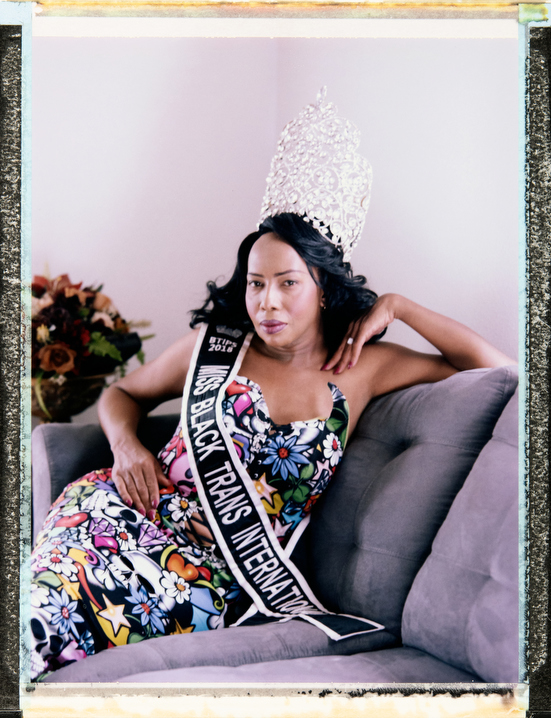 40 year-old, black, female of trans experience, Malaysia at home in New Orleans. Malaysia is a Retention Specialist and Miss Black Trans International 2018-2019. (Pronouns: Use Malaysia, not she/her/they/them). Behind the scenes photography and video and assistant: Myles Golden, mylessgolden@gmail.com, Phone +1 757 751 3135. Photography by Robin Hammond, pitures@robinhammond.co.uk. Editor: Mallory Benedict, Mallory.Benedict@natgeo.com, +1 202.791.1282. 11 March 2019