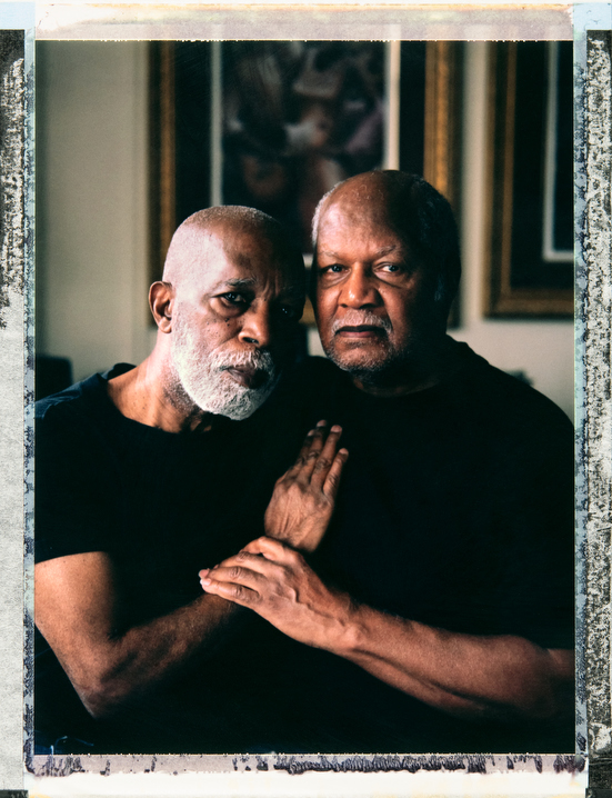Gay African-American male couple of 37 years, 79 year-old Robert Waldron (left) and 79 year-old Vernon May at home in  Brooklyn, New York. Assistant: Alison Lippy, Allison@allisonlippy.com, Phone +1 410 967 1096. Photography and video by Robin Hammond, pitures@robinhammond.co.uk. Editor: Mallory Benedict, Mallory.Benedict@natgeo.com, +1 202.791.1282. 05 February 2019