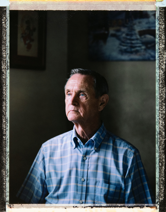 76 year-old, Caucasian, gay man Bob Frew at his home in Orlando. Bob was widowed in January 2019 when he lost his partner of 30 years. Behind the scenes photography and video and assistant: Juan Pablo Ampudia, juanpablo@cuartocreativo.com. Phone +52 1 55 8676 5741. Photography by Robin Hammond, pitures@robinhammond.co.uk. Editor: Mallory Benedict, Mallory.Benedict@natgeo.com, +1 202.791.1282. 19 March 2019