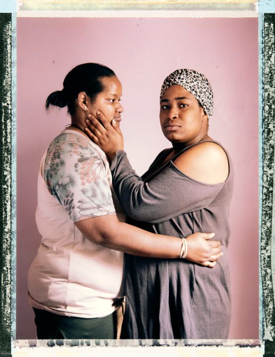 25 year old homeless transgender non-conforming Caribbean-American person Abena Bello (wearing hat) with their partner 24 year-old homeless lesbian Hispanic woman Patricia Felix in The Bronx, New York. In 2012 the Williams Institute estimated that of all homeless youth, 40% LGBTQI+. The US Interagency Council on Homelessness says the number is closer to 20%-40%. Assistant: Alison Lippy, Allison@allisonlippy.com, Phone +1 410 967 1096. Photography and video by Robin Hammond, pitures@robinhammond.co.uk. Editor: Mallory Benedict, Mallory.Benedict@natgeo.com, +1 202.791.1282. 10 February 2019